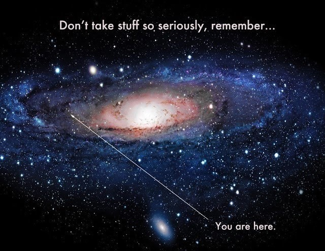 You are here in the galaxy