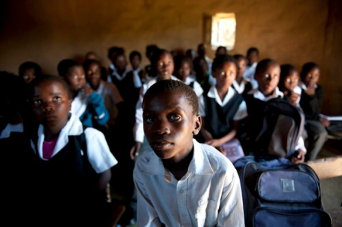 Mud schools, no lights or electricity, overcrowded. Madelene Cronjé