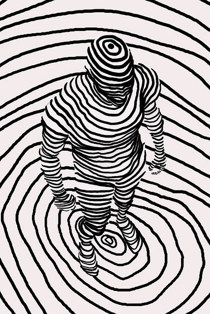 Contour Line Drawing Figure : August nic spaull