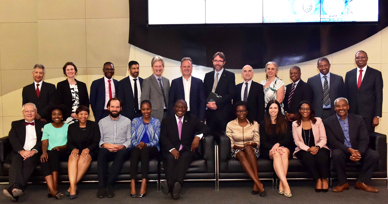 Group photo - Ramaphosa Roundtable 2018