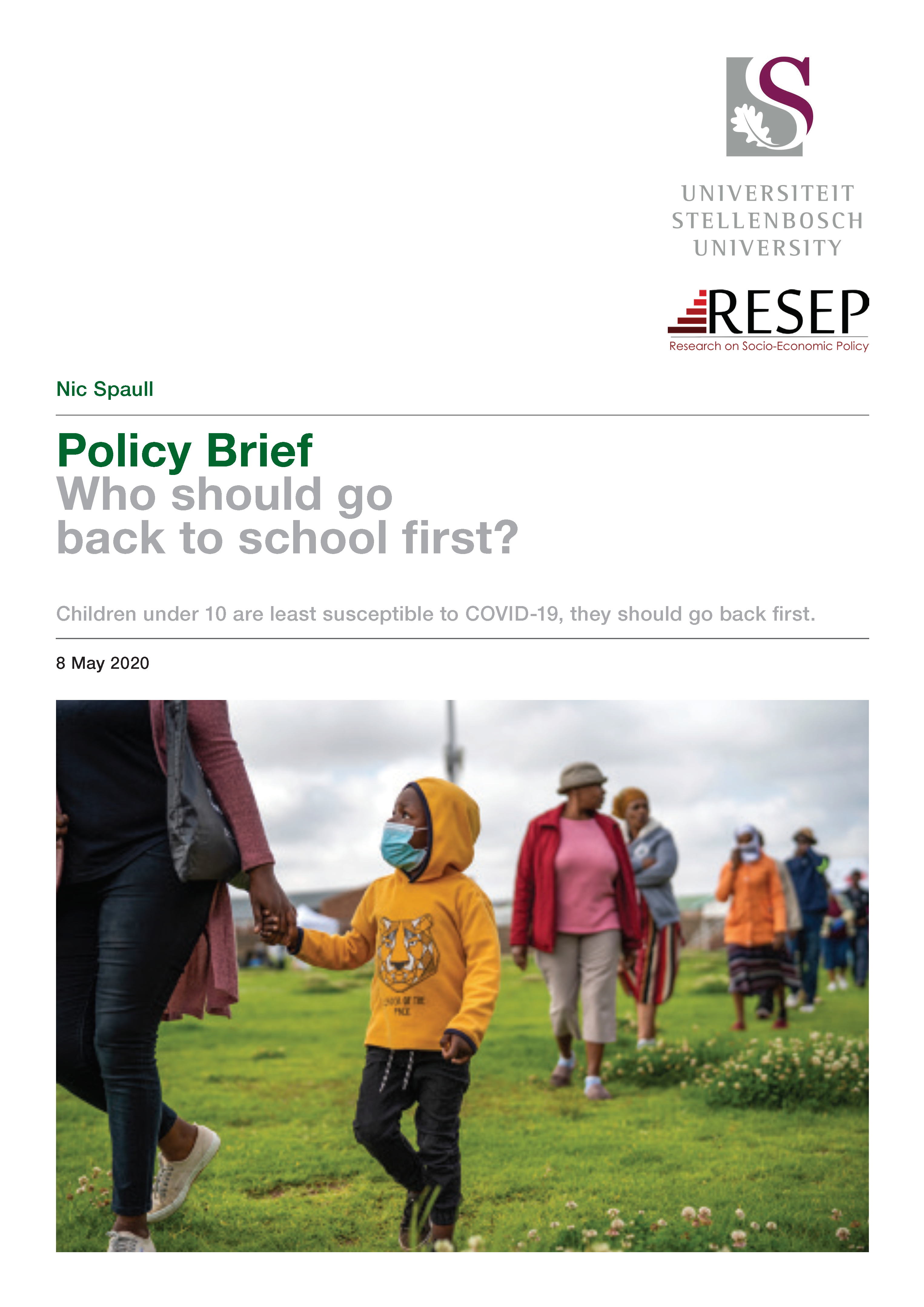Spaull 2020 Schooling Policy Brief (10 May 2020) 1